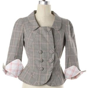 Plaid double-breasted blazer by Kenzo